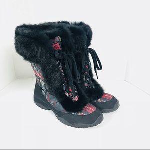Coach Shoes - COACH Jennie plaid tartan Snow winter boots Sz 9.5